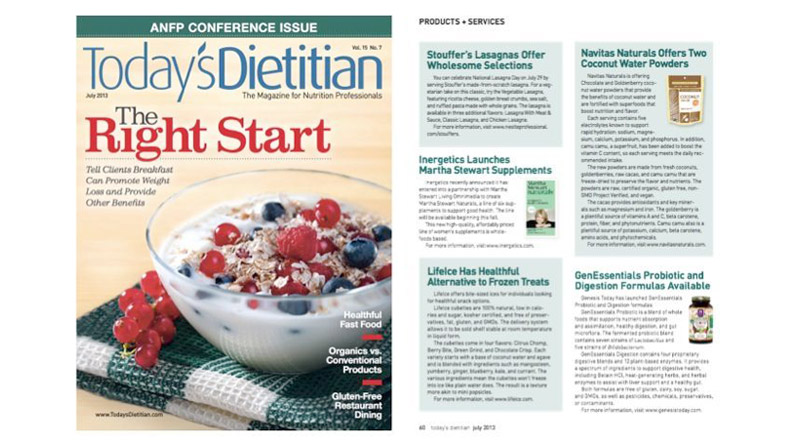 Today's Dietitian - July 2013