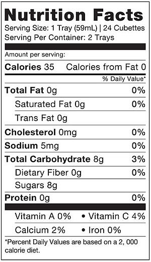 nutrition facts  berry bite
